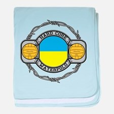 ukraine hard core water baby blanket