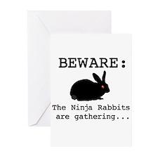 Ninja Rabbits Greeting Cards (Pk of 10)