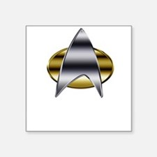 "Cute Star trek symbol Square Sticker 3"" x 3"""