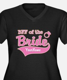 BFF of the B Women's Plus Size V-Neck Dark T-Shirt