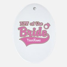 BFF of the Bride Ornament (Oval)