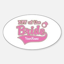 BFF of the Bride Sticker (Oval)