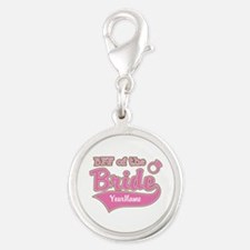 BFF of the Bride Silver Round Charm