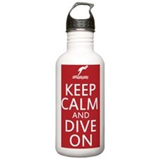 Keep calm and DIVE on Water Bottle