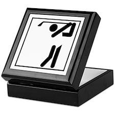 Golfer Stick Figure Keepsake Box