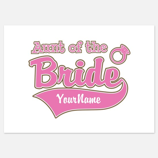 Aunt of the Bride 5x7 Flat Cards