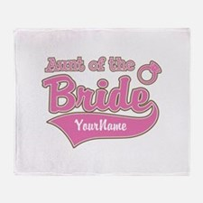Aunt of the Bride Throw Blanket