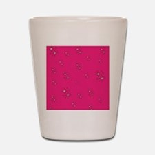 Hot Pink SPARKLES Shot Glass