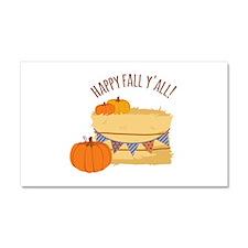Happy Fall Y'All! Car Magnet 20 x 12
