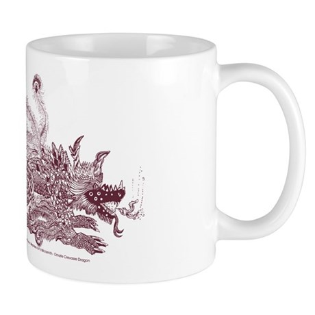 Sepia Brown Crevasse Dragon Mug