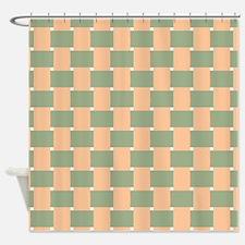 Peach Green Shower Curtains Peach Green Fabric Shower Curtain Liner
