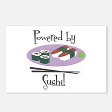 Powered by Sushi Postcards (Package of 8)