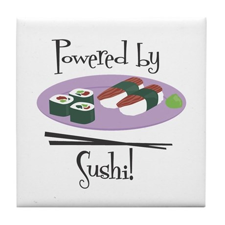 Powered by Sushi Tile Coaster