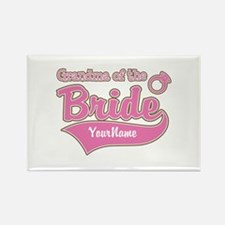 Grandma of the Bride Rectangle Magnet