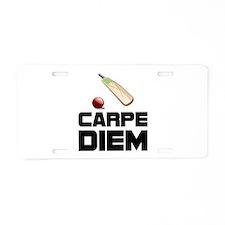 Carpe Diem Cricket Aluminum License Plate
