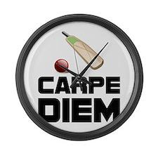 Carpe Diem Cricket Large Wall Clock