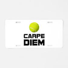 Carpe Diem Tennis Aluminum License Plate