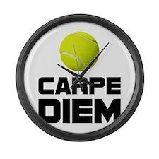 Carpe Diem Tennis Large Wall Clock