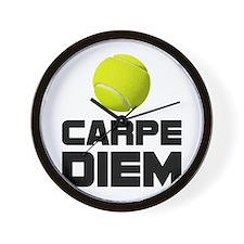 Carpe Diem Tennis Wall Clock