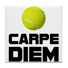 Carpe Diem Tennis Tile Coaster