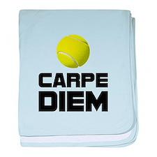 Carpe Diem Tennis baby blanket
