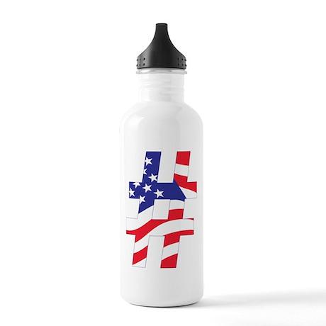 Hashtag USA Water Bottle
