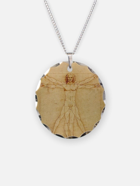 Leonardo Da Vinci Vitruvian  Necklace