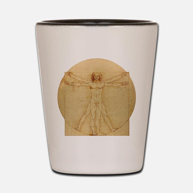 Leonardo Da Vinci Vitruvian Man Shot Glass