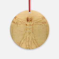 Leonardo Da Vinci Vitruvian Man Round Ornament