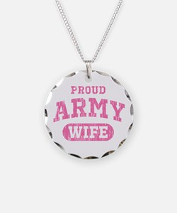 Proud Army Wife [pink] Necklace