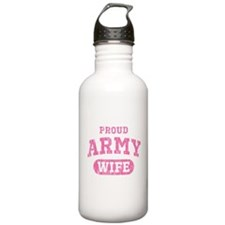 Proud Army Wife [pink] Water Bottle