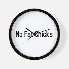 Fat chicks Wall Clock