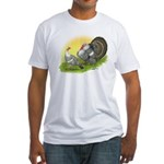Narragansette Turkey Pair Fitted T-Shirt