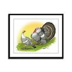 Narragansette Turkey Pair Framed Panel Print