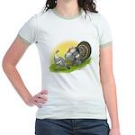 Narragansette Turkey Pair Jr. Ringer T-Shirt