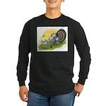 Narragansette Turkey Pair Long Sleeve Dark T-Shirt