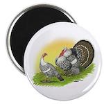 Narragansette Turkey Pair Magnet