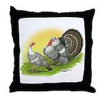 Narragansette Turkey Pair Throw Pillow