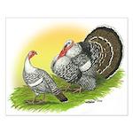 Narragansette Turkey Pair Small Poster