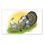Narragansette Turkey Pair Rectangle Sticker