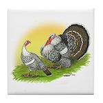Narragansette Turkey Pair Tile Coaster