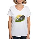Narragansette Turkey Pair Women's V-Neck T-Shirt