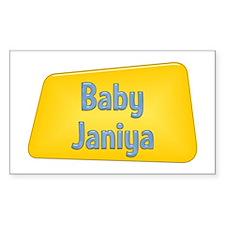 Baby Janiya Rectangle Decal