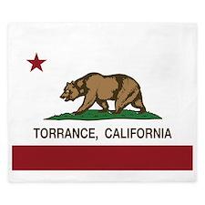 Torrance California Republic Flag King Duvet