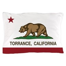 Torrance California Republic Flag Pillow Case