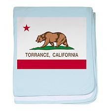 Torrance California Republic Flag baby blanket