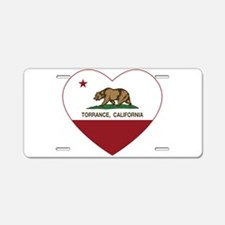 Torrance California Republic Heart Aluminum Licens