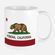 Pomona California Republic Flag Mugs