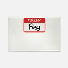 Hello Ray Rectangle Magnet