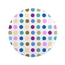 "Colorful Polka Dots 3.5"" Button"